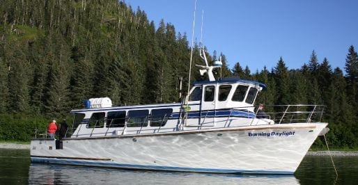 50' Delta - Burning Daylight… fishes 6 to 10 guests. This boat is capable of overnight fishing expeditions.