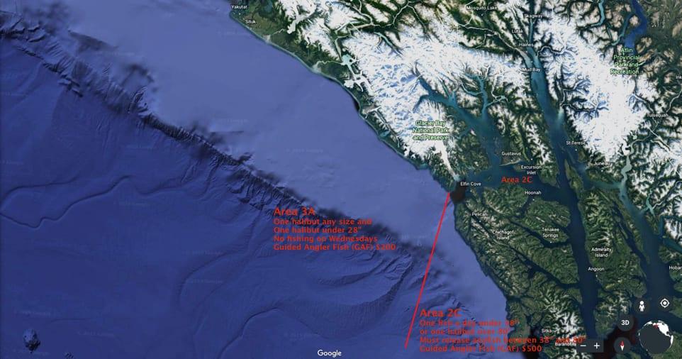 Google Gulf of Alaska Yakutat to Sitka w 3A & 2C Regs